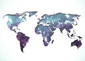 Imagem de um mapa-múndi estilizado — Foto Stock
