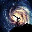Silhouette of  Telescope - Stock Photo