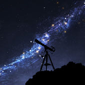 Silhouette of Telescope — Stock Photo