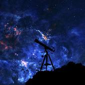 Silueta dalekohledu — Stock fotografie
