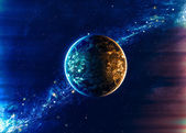 Beautiful space background — Stock Photo