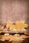 Autumn candle — Stock Photo