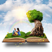 Magic tree love — Stock Photo