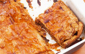Cabbage-carrot pie — Stock Photo