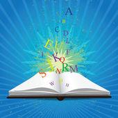Libro de magia — Vector de stock