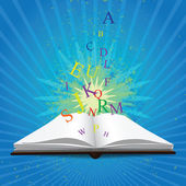 Sihirli kitap — Stok Vektör