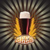 Etichette birra — Vettoriale Stock