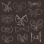 Hand drawn bows — Stock Vector