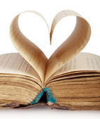 Book heart — Stock Photo