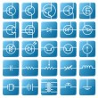 Stock Vector: Icon set of electrical circuits.