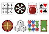 Outils de jeu de casino. — Vecteur