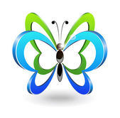 Decorative butterfly. — Vettoriale Stock