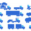 Stock Vector: Types of trucks.