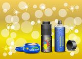 Cosmetic cream and deodorant. — Stock Vector