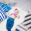 Mermaid baby — Stock Photo