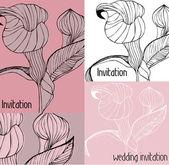 Calla flower background - vector illustration — Stock Vector