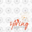 Illustrated greeting card for spring - vector illustration  — Stock Vector