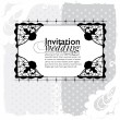 Lace frame wedding invitation - Stock Vector