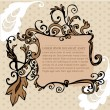 Illustrated art nouveau style frame — Stock Vector