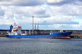 Petrolero en puerto — Foto de Stock