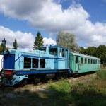 Locomotive with wagon — Stock Photo #6404493