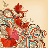 矢量花卉背景 — 图库矢量图片