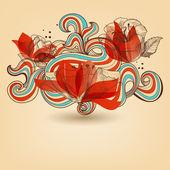 Vector flower ornament — Stock Vector