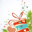 Christmas gift vector — Stock Vector