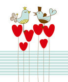 Love birds vector illustration — Stock Vector