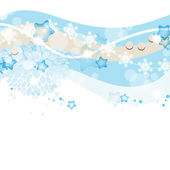 Blue winter and Christmas vector background — Stock Vector