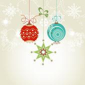 Shiny Christmas card — Stock Vector