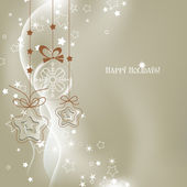 Silver Christmas background vector — Stock Vector