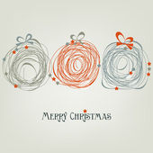 Cute Christmas card abstract decorations — Stock Vector