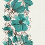 Flower seamless pattern vector — Stock Vector