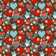 Hearts seamless pattern vector - Stock Vector