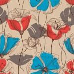 Retro floral seamless pattern vector — Stock Vector