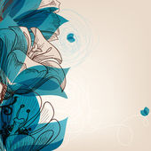 Vector blue flower background — Stock Vector