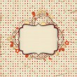 Vintage background with floral frame for text — Stock Vector