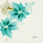 Retro floral background vector — Stock Vector