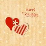 Wedding hearts greeting card — Stock Vector