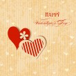 Valentine hearts greeting card — Stock Vector #39200839