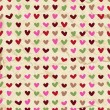 Cute hearts seamless pattern — Stock Vector