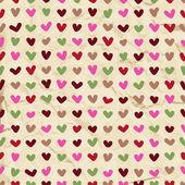 可爱的心无缝模式 — 图库矢量图片
