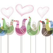 Love birds ornament seamless pattern  — Διανυσματικό Αρχείο