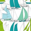 Boats seamless pattern vector — Stock Vector