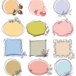 Cute decorative frames set, place for text — ストックベクタ