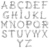 Sketch alphabet pencil drawing retro look for design — Vecteur