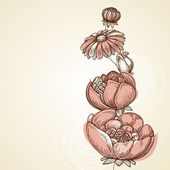 贺卡、 请柬、 剪贴簿的花卉背景 — 图库矢量图片