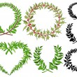 Laurel wreaths vector set — Stock Vector #49603255