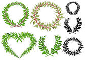 Laurel wreaths vector set  — Stock Vector